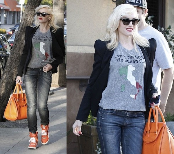 Gwen Stefani in a casual and chic getup on a day out with her kids in Burbank on May 25, 2013