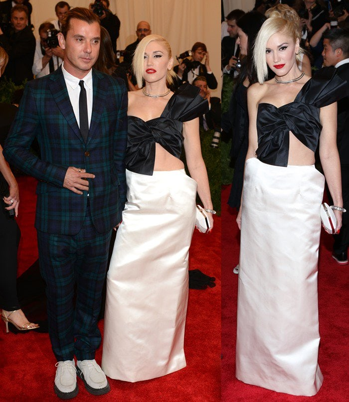 Gwen Stefani and Gavin Rossdale on the red carpet at the 2013 Met Gala held at the Metropolitan Museum of Art in New York City on May 6, 2013