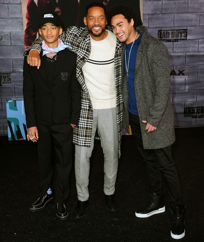 Jaden Smith, Will Smith, and Trey Smith attend Bad Boys For Life premiere