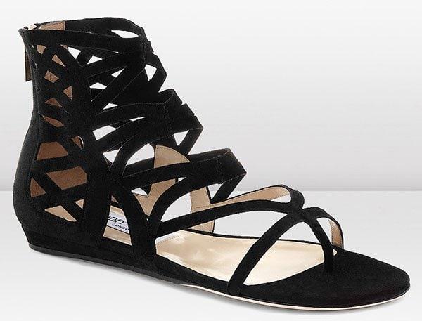 Jimmy Choo Vernie Sandals in Black Suede