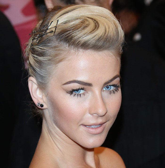 Julianne Hough on the red carpet at the 2013 Met Gala held at the Metropolitan Museum of Art in New York City on May 6, 2013