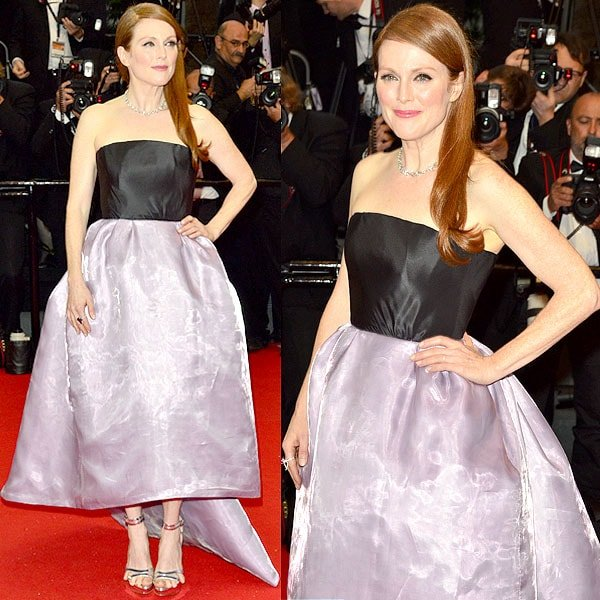 Julianne Moore walks the red carpet at the Opening Ceremony of the 66th Cannes Film Festival