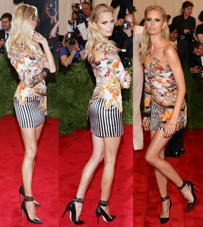 Karolina Kurkova on the red carpet at the 2013 Met Gala held at the Metropolitan Museum of Art in New York City on May 6, 2013