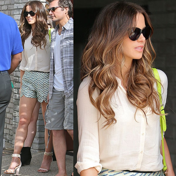 Kate Beckinsale arrives at producer Joel Silver's Memorial Day Party in Malibu, California, on May 27, 2013