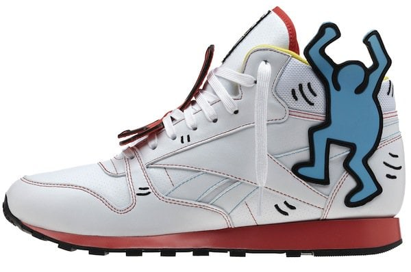 Reebok x Keith Haring Men's Classic Leather Mid Lux
