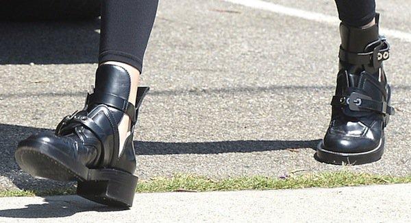 Kendall Jenner's Balenciaga cutout boots