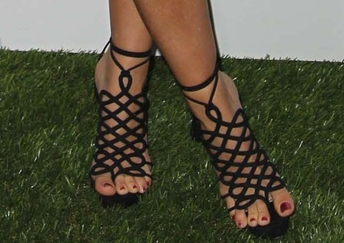 Kendra Wilkinson in seriously sexy Christian Louboutin sandals