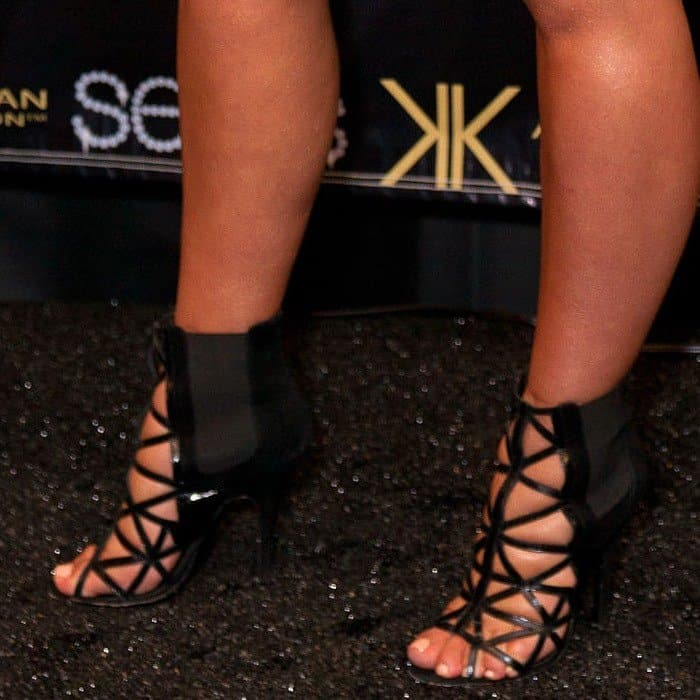 Kim Kardashian squeezed her feet into a pair of Givenchy booties