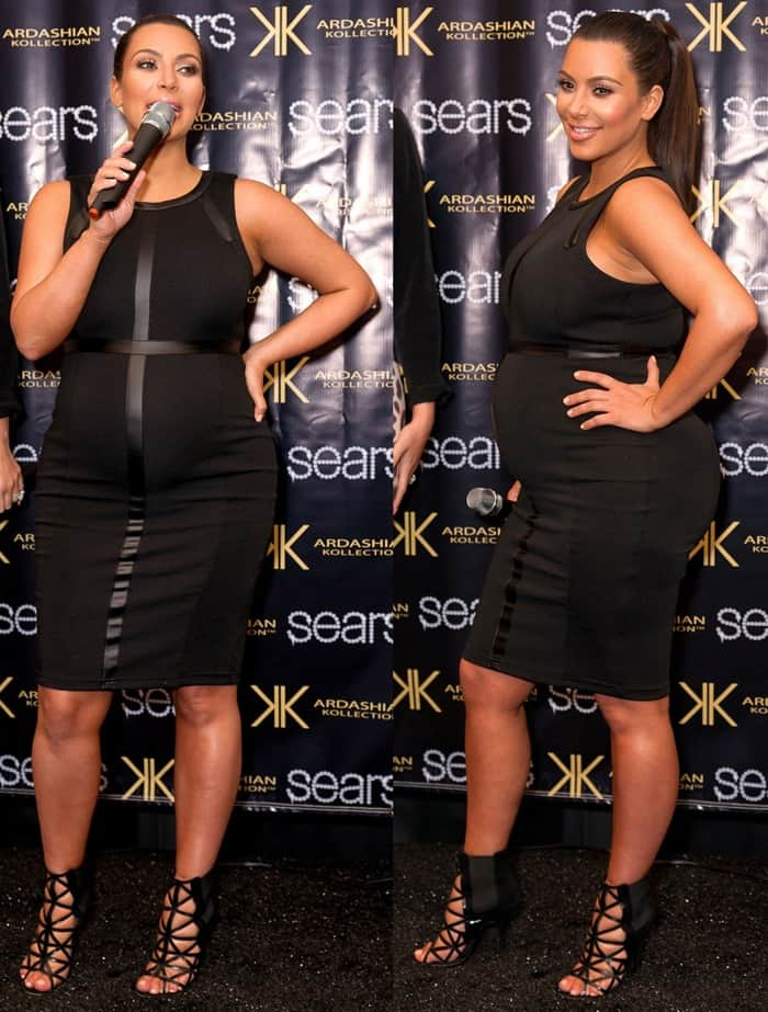 Kim Kardashian makes an in-store appearance at Sears to launch the Kardashian Kollection Spring 2013 clothing line