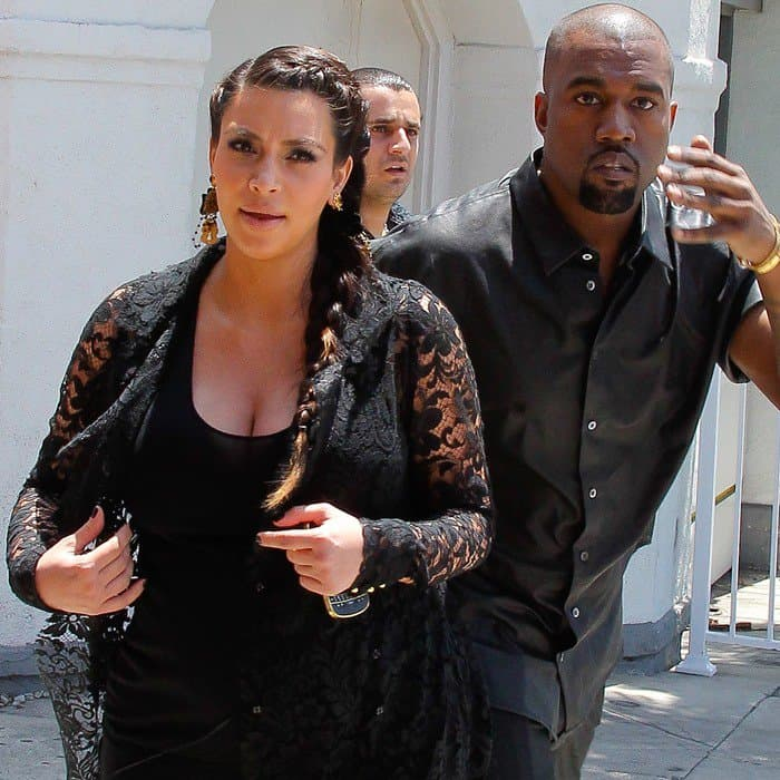 Kim Kardashian and Kanye West are seen house hunting in Beverly Hills