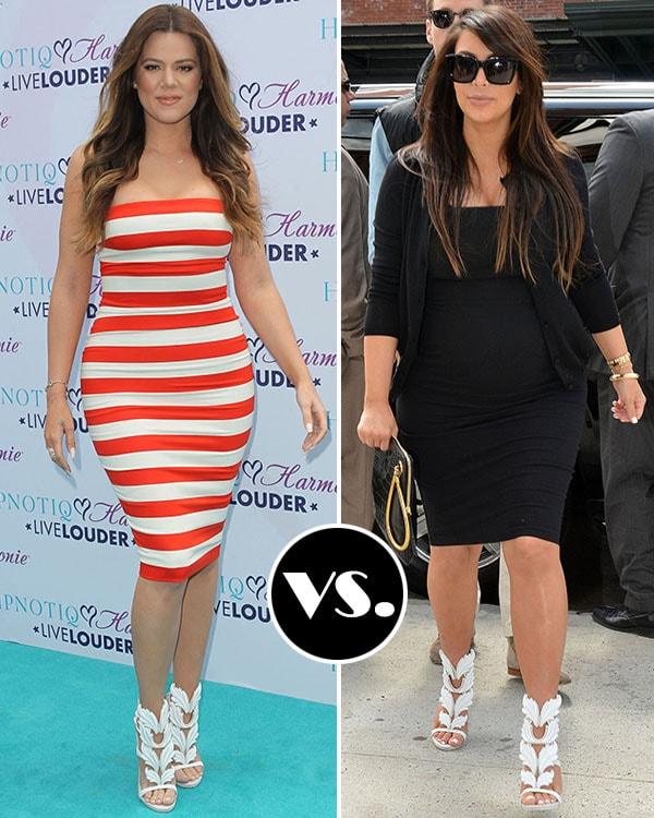 Khloe Kardashian and Kim Kardashian in Giuseppe Zanotti x Kanye West Cruel Summer sandals