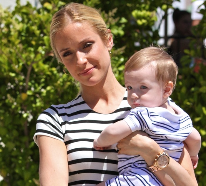 Kristin Cavallari and son Camden go out to lunch at Urth Cafe in West Hollywood on May 2, 2013