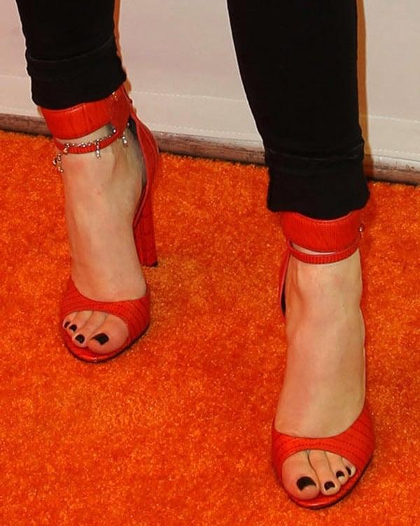 Kylie Jenner in Alexander Wang Resort 2013 Aminata sandals