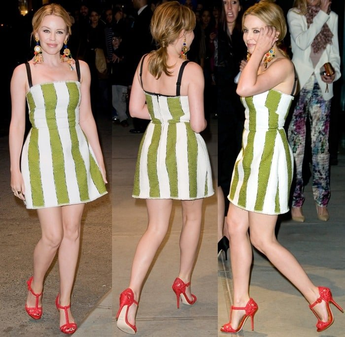 Kylie Minogue at the Dolce & Gabbana Fifth Avenue Flagship Store Opening in New York on May 4, 2013