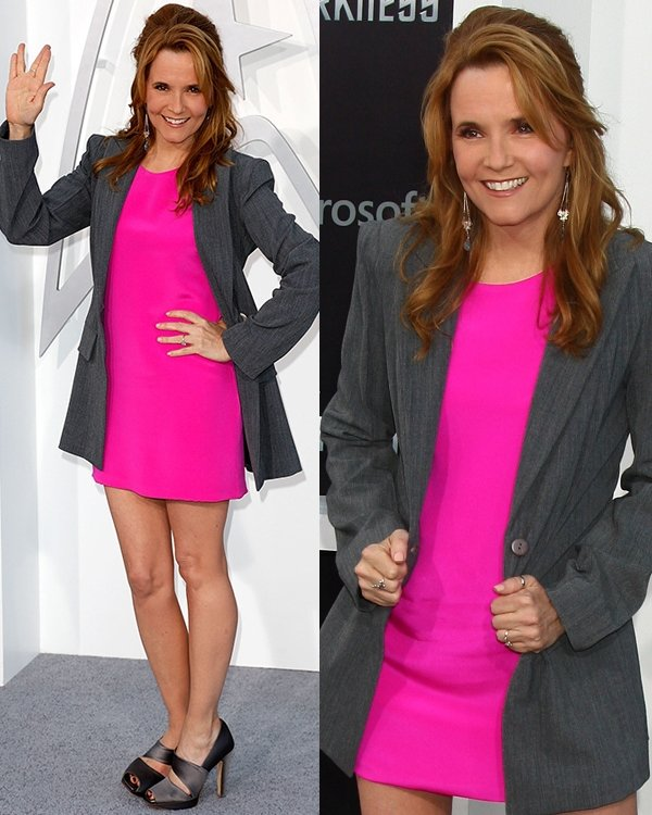 Lea Thompson looked pretty in pink