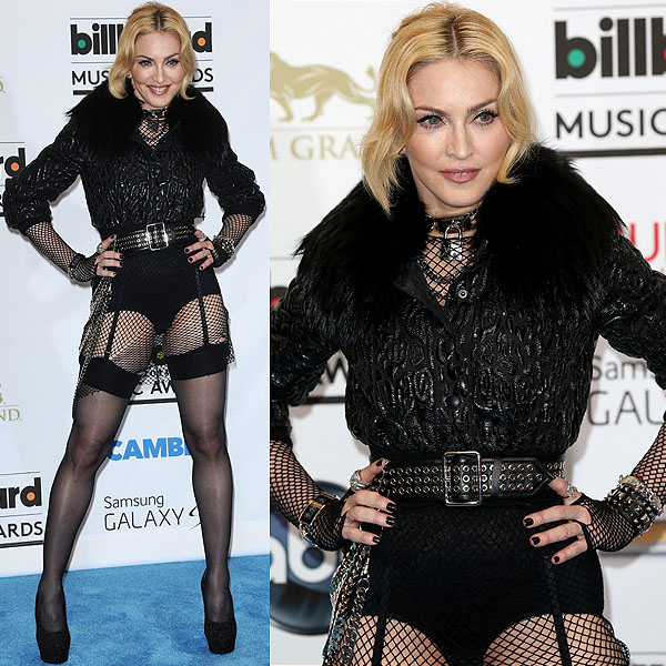 Madonna in a custom-made Givenchy outfit at the 2013 Billboard Music Awards held at the MGM Grand Garden Arena in Las Vegas, Nevada on May 19, 2013