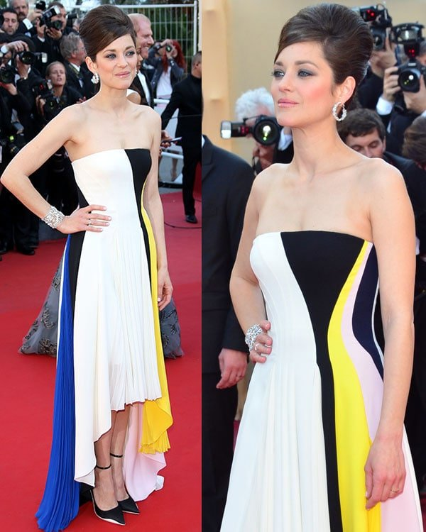 Marion Cotillard at the 'Blood Ties' red carpet during the 66th Annual Cannes Film Festival