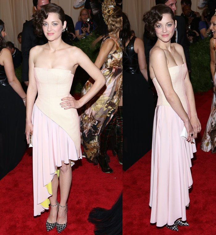 Marion Cotillard on the red carpet at the 2013 Met Gala held at the Metropolitan Museum of Art in New York City on May 6, 2013