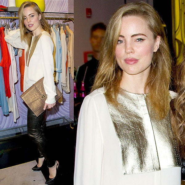 Melissa George attends the Eve album listening party at Monika Chiang