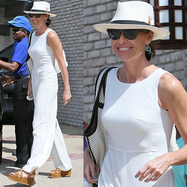 Minnie Driver arrives at producer Joel Silver's Memorial Day Party in Malibu, California, on May 27, 2013