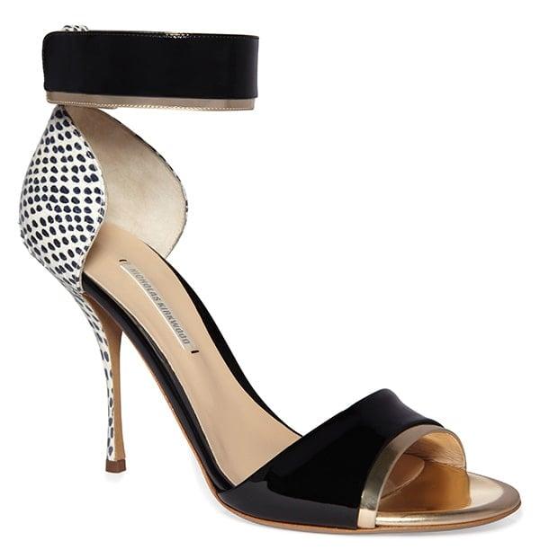 Nicholas Kirkwood Elaphe Peep Toe Sandals