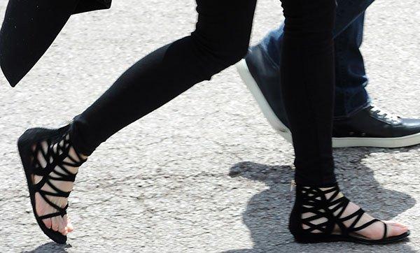 Nicole Kidman rockingflat Jimmy Choo Vernie sandals in Cannes