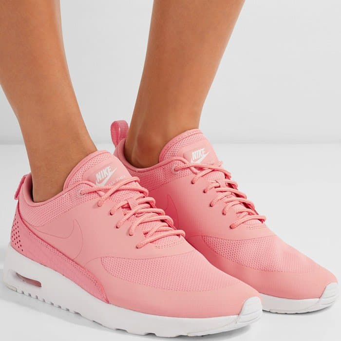 Nike 'Air Max Thea' Croc-Effect Leather-Trimmed Coated Mesh Sneakers