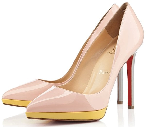 Christian Louboutin Pigalle Plato Nude Yellow