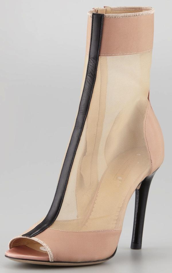 Reed Krakoff Mesh Boots Beige