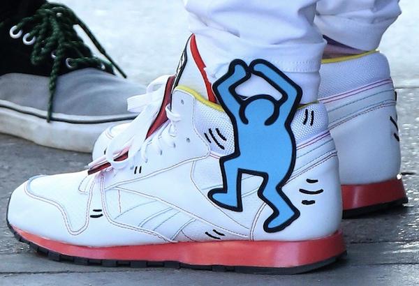 Rita Ora in Reebok x Keith Haring graffiti-print sneakers
