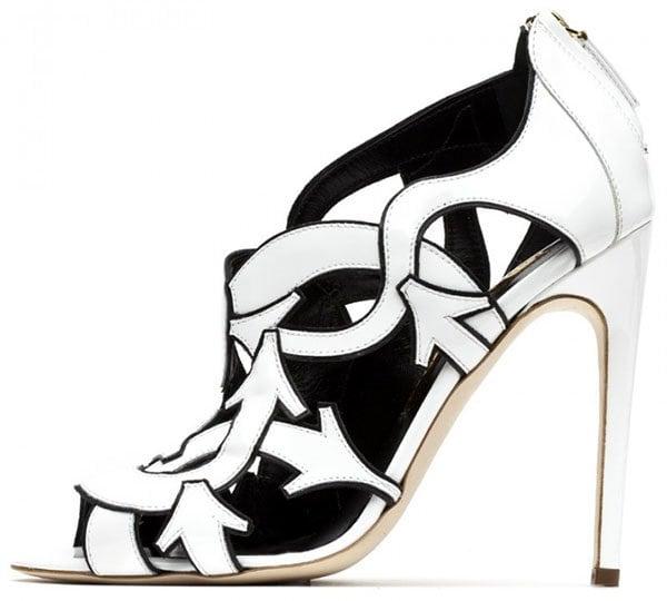 Rupert Sanderson Zandy Sandals in White Patent1
