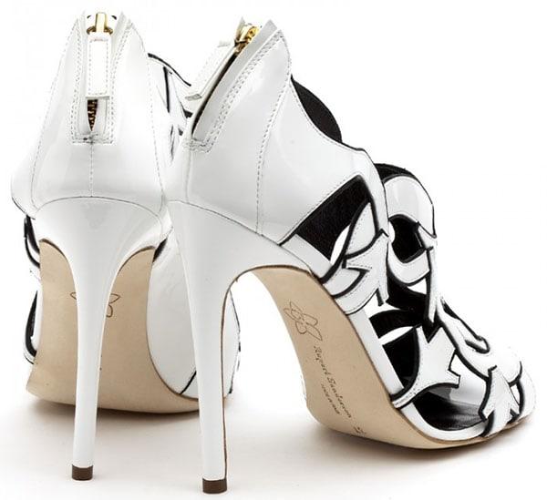 Rupert Sanderson Zandy Sandals in White Patent
