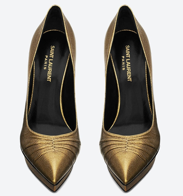 Saint Laurent Classic Pleated Janis Escarpin Pumps