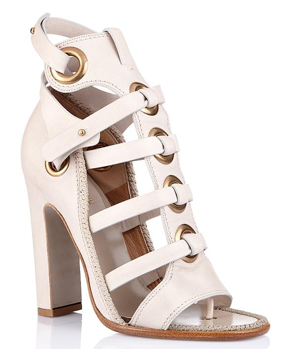 Salvatore Ferragamo Gladiator Sandals in White