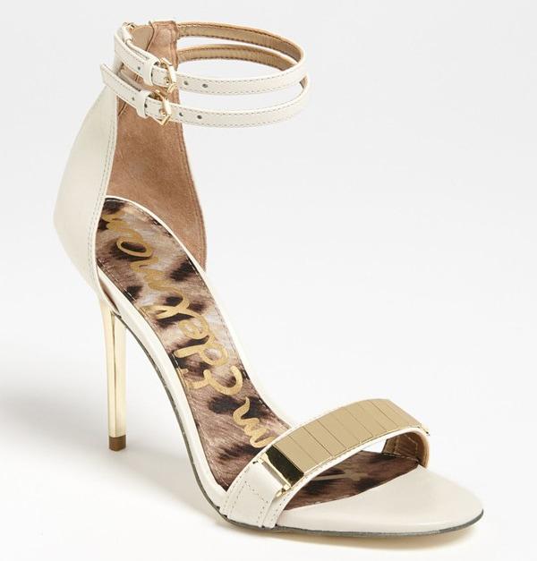 """Sam Edelman """"Allie"""" Sandals in White"""