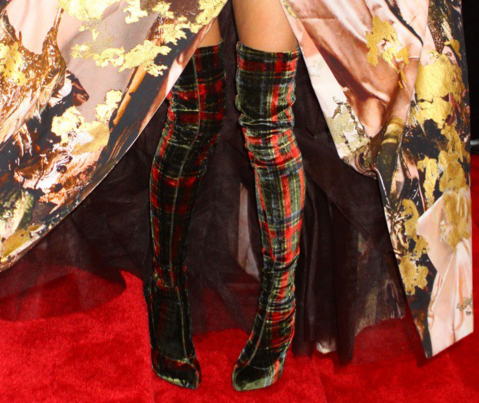 Sarah Jessica Parker's plaid over-the-knee-boots from Christian Louboutin