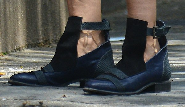 Sarah Jessica Parker's cutout buckled booties