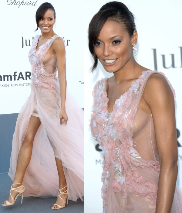 Selita Ebanks at amfAR's 20th Annual Cinema Against AIDS event during the 66th Cannes Film Festival in Cannes, France on May 23, 2013