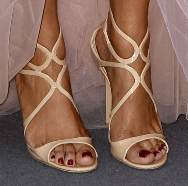 Selita Ebanks in Jimmy Choo heels