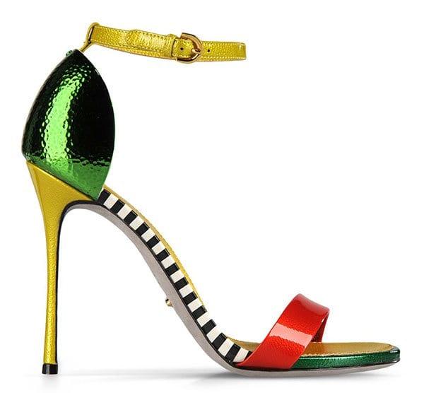 Sergio Rossi Flashy Sandals in Green