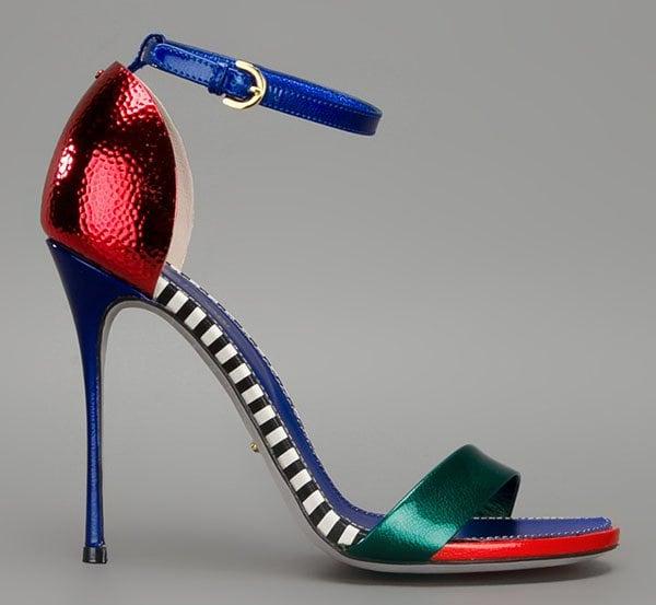 Sergio Rossi Flashy Sandals in Multicolor Patent