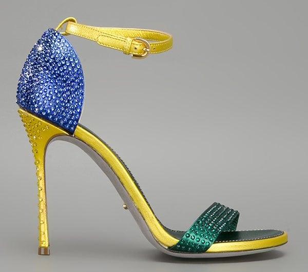 Sergio Rossi Flashy Sandals in Multicolor