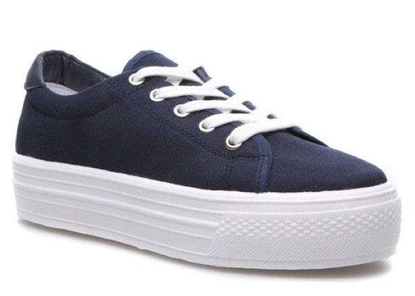 Platform Sneakers in Navy