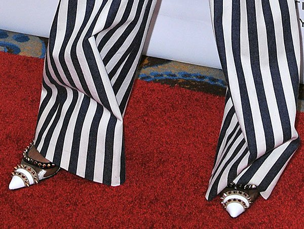 Willow Smith in Christian Louboutin Manovra patent PVC slingback pumps