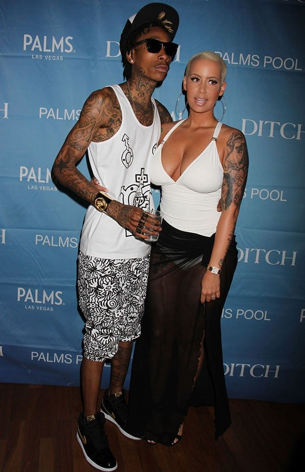 "Amber Rose stepped out to join her fiance, Wiz Khalifa, at ""Ditch Fridays"" at The Palms Casino Resort in Las Vegas"