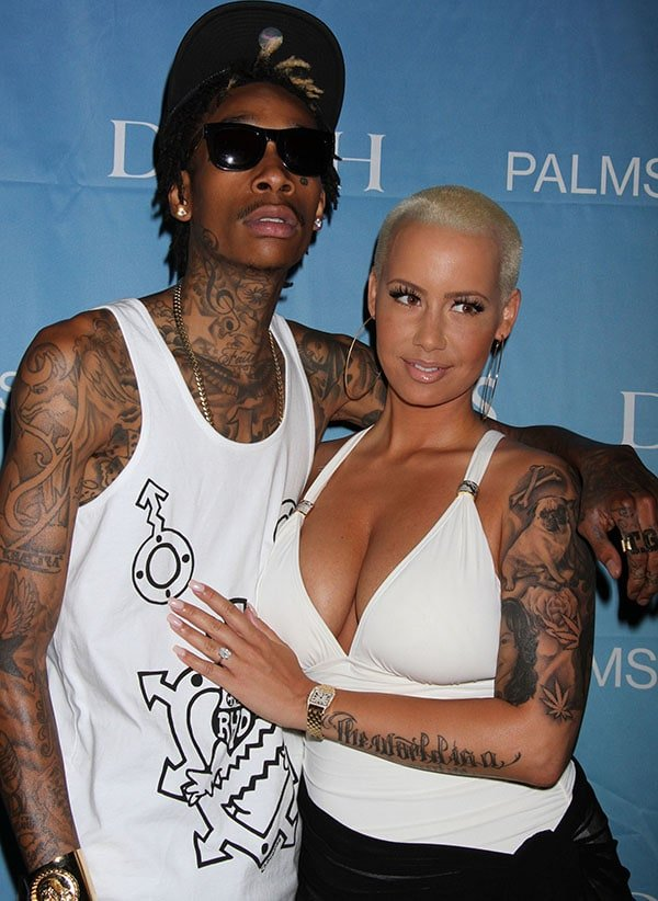 "Amber Rose with Wiz Khalifa at ""Ditch Fridays"" during the Memorial Weekend kickoff"
