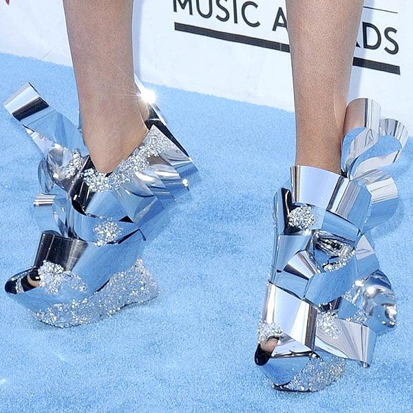 Z LaLa shoes 2013 Billboard Music Awards