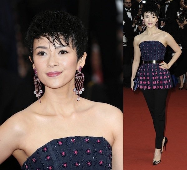 Zhang Ziyi in a casual attire at the 66th Annual Cannes Film Festival Opening Ceremony on May 15, 2013