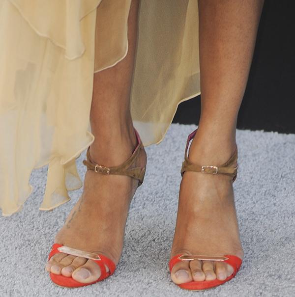 Zoe Saldana at the premiere of Paramount Pictures    Star Trek into    Zoe Saldana Feet
