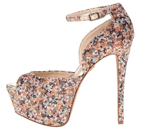 "Betsey Johnson ""Bandit"" Floral-Print Heels"